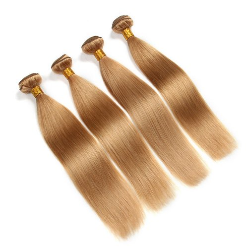 4 Bundles Dyed Brazilian Hair Extensions #27 Color Straight