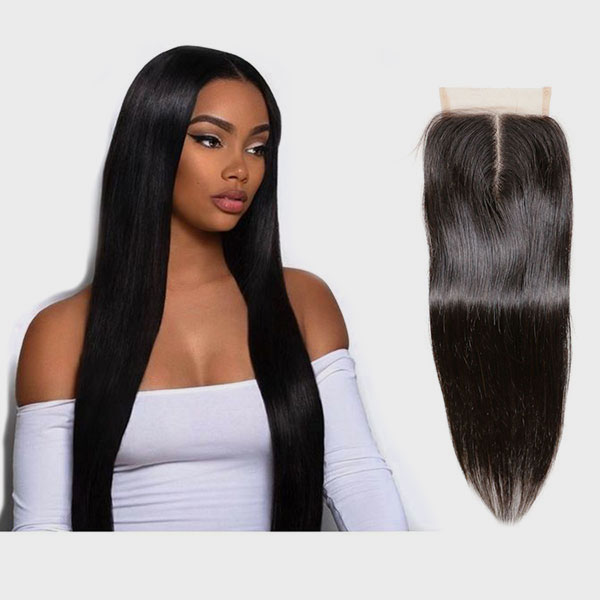 Brazilian Hair Bundles With 4x4 Lace Closure